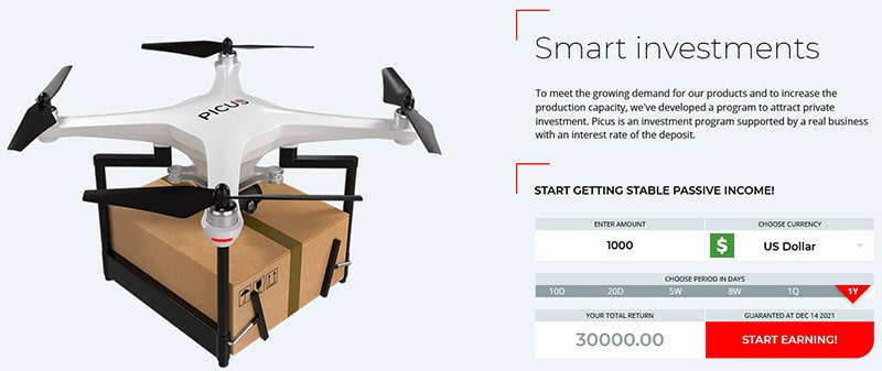 Picus Biz Drone Investments Review