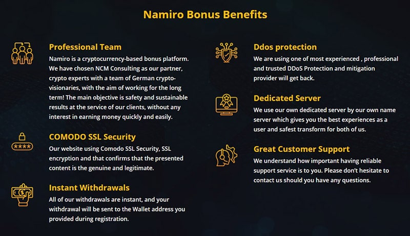 Namiro Products and Services