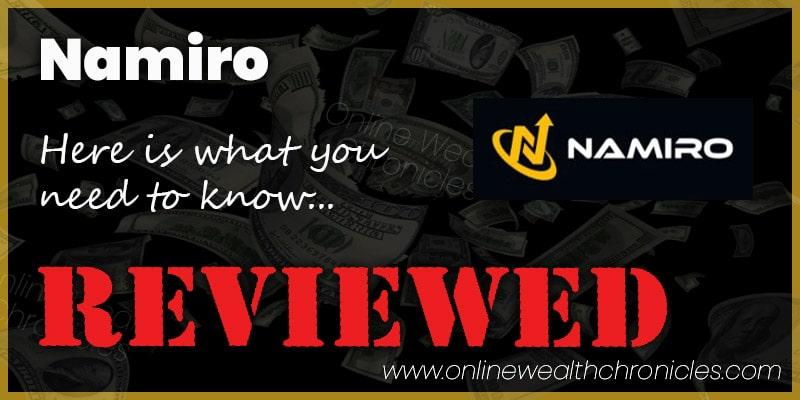 Namiro Review Scam ROI Compensation Plan