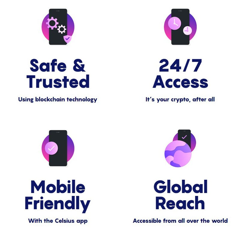 Celsius Network Services and Features