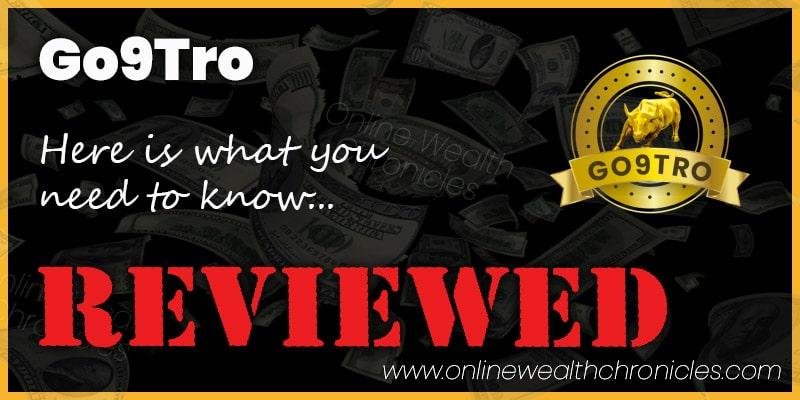 Go9Tro Review Scam Smart Contract Compensation Plan