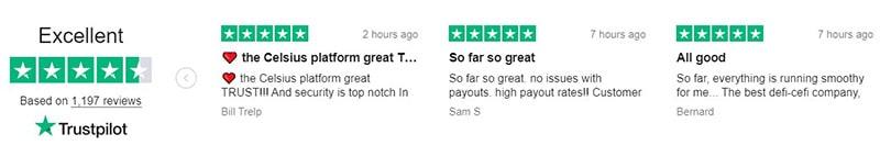 TrustPilot Celsius Reviews