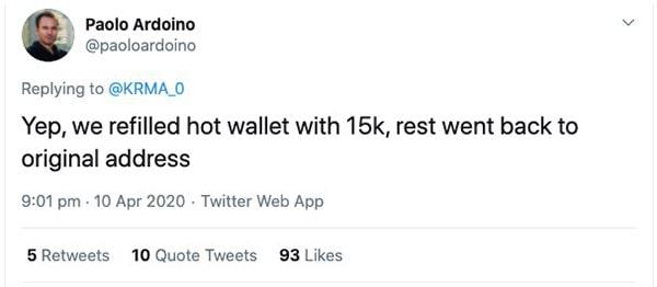 161500 BTC Transaction