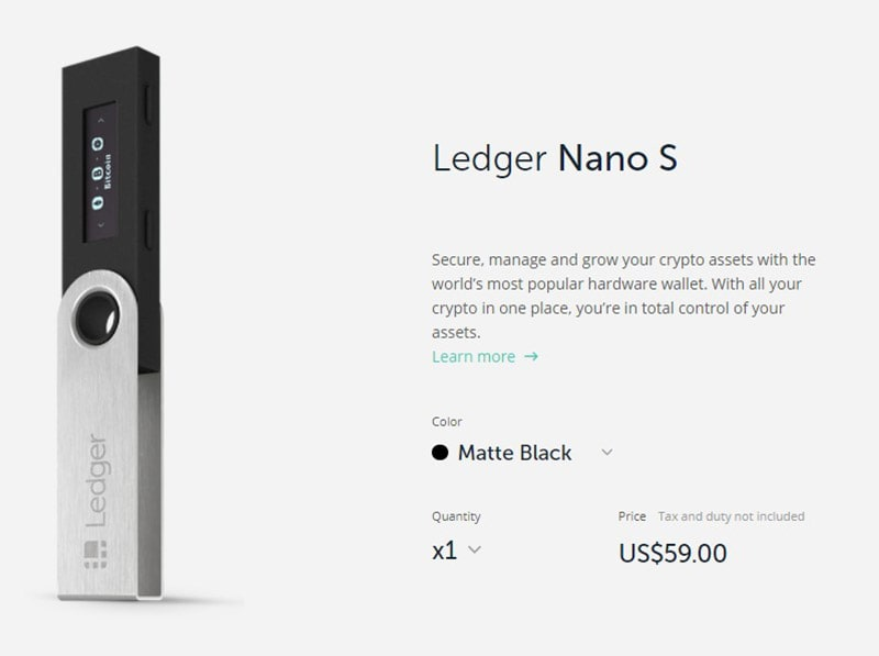 How Much Does The Ledger Nano S Cost