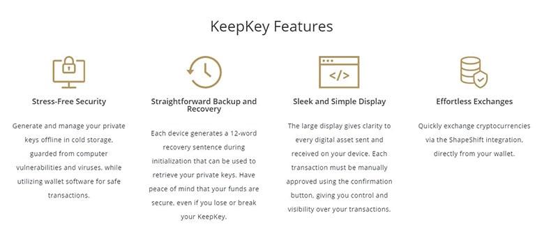 Keepkey Benefits