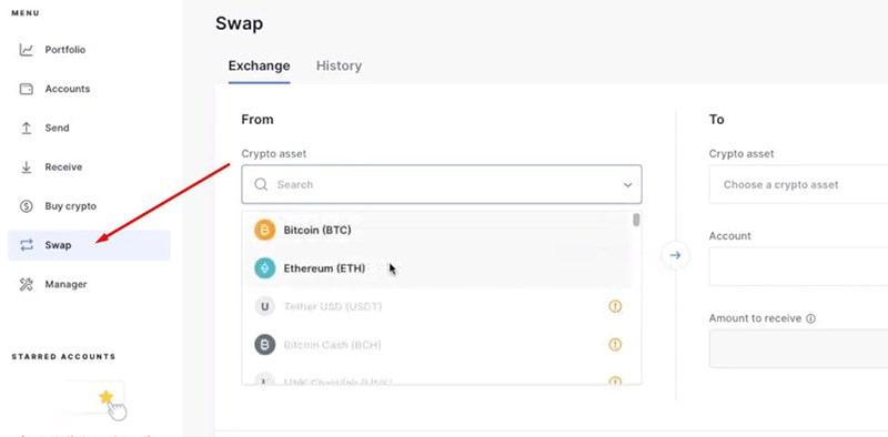 Swap Crypto With Ledger Nano S