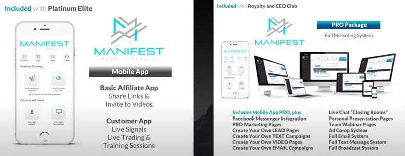 Manifest FX App and Marketing System
