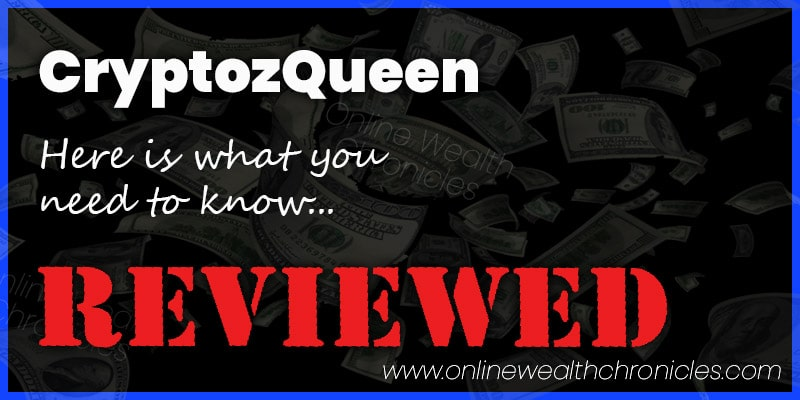 CryptozQueen Review Scam ROI Trading Bot Compensation Plan