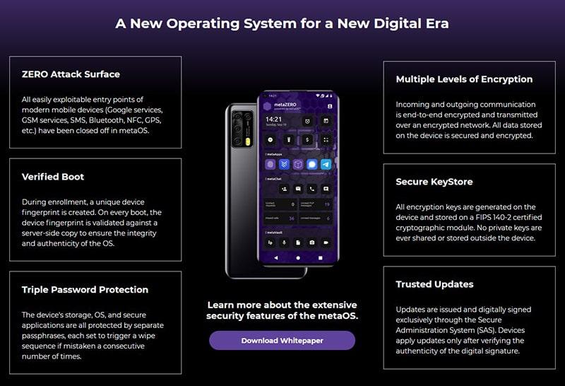 SDK Meta Products The MetaZERO Cell Phone